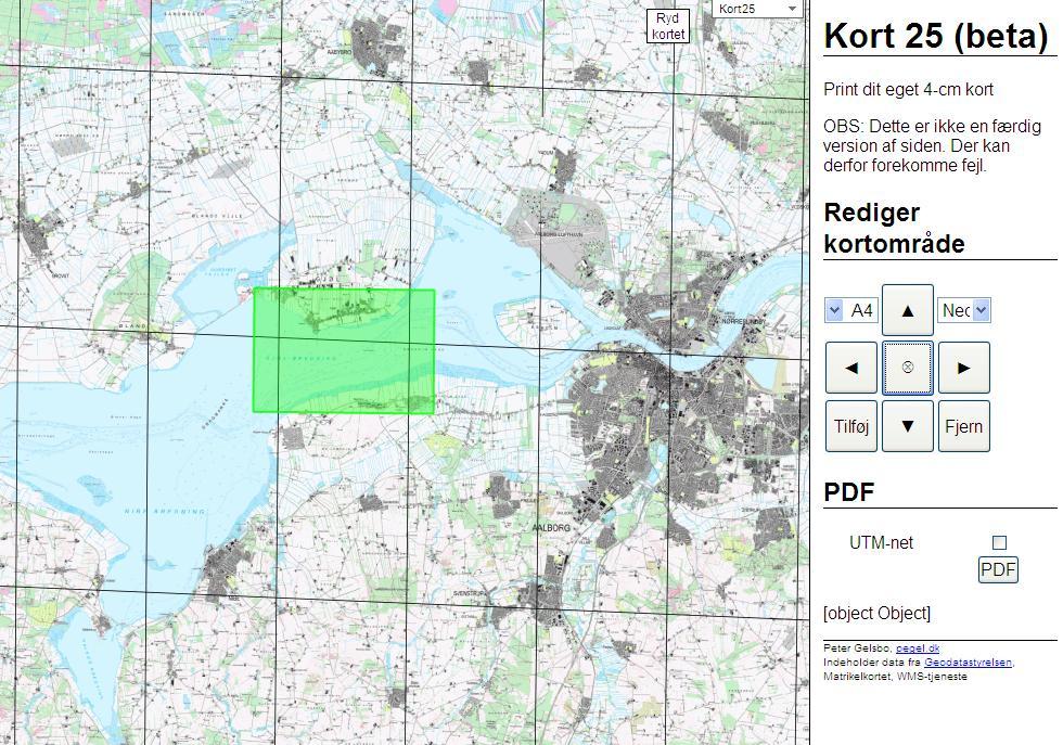 Topografiske Kort Til Turen Kajaksnakken